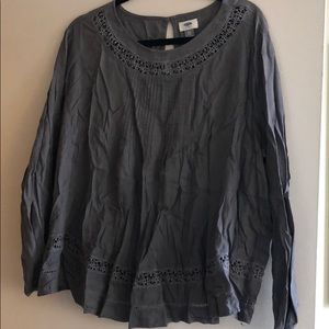 Long Sleeve Top with Cutout Designs
